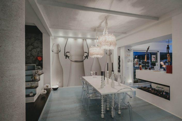 zona living arredo moderno elegante
