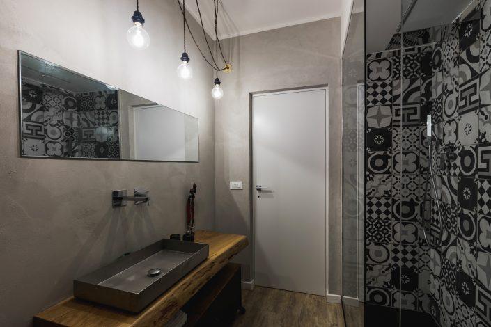 progetto bagno stile industriale