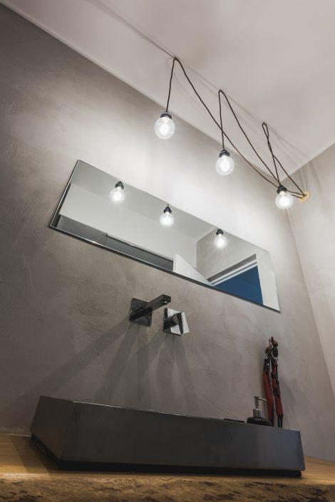 illuminazione bagno stile industriale