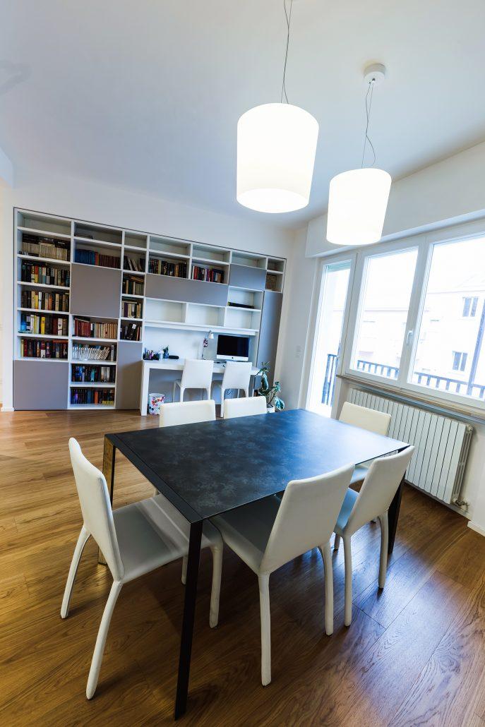 progetto interni zona living
