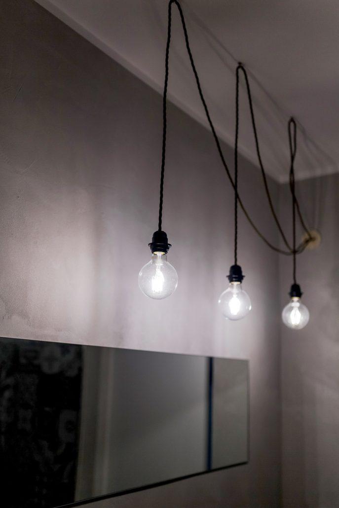 lampade sospese in stile industriale
