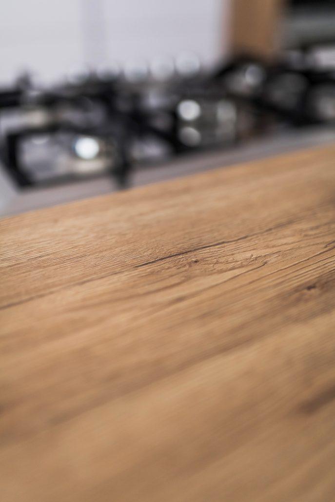 bancone cucina legno grezzo