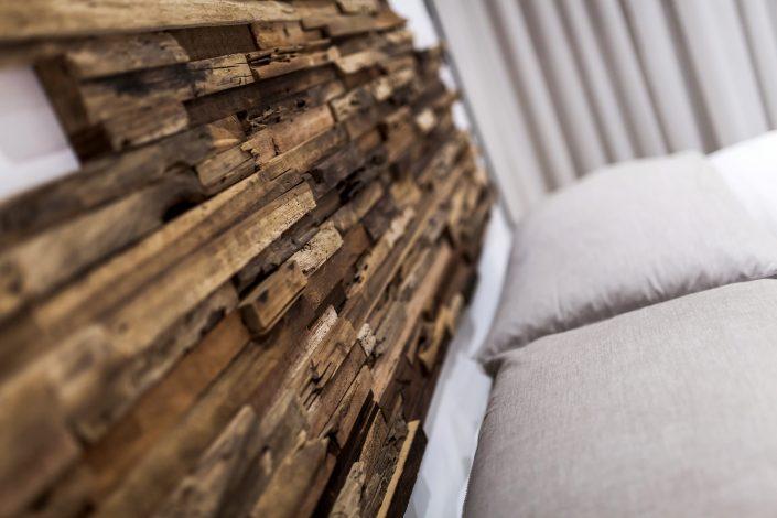 testiera letto matrimoniale legno grezzo