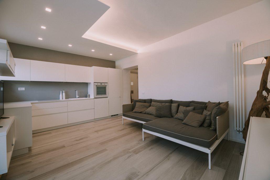 progetto luci controsoffitto cucina soggiorno