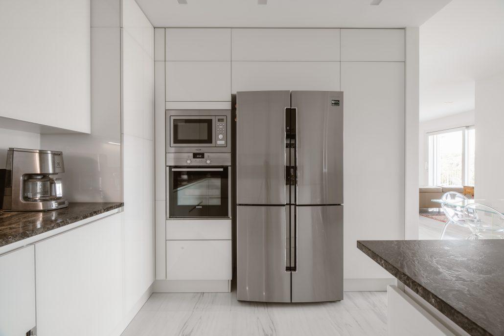 frigorifero acciaio a doppia anta