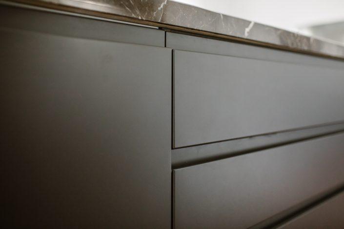 isola cucina con cassetti