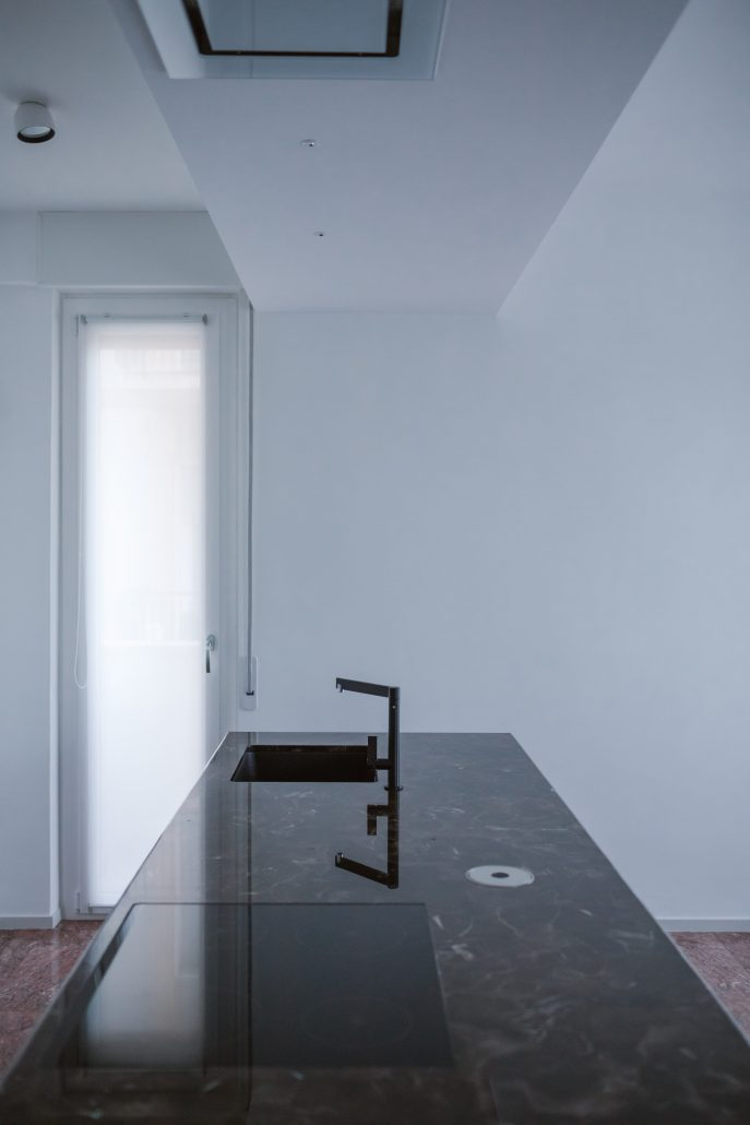 isola cucina marmo moderna
