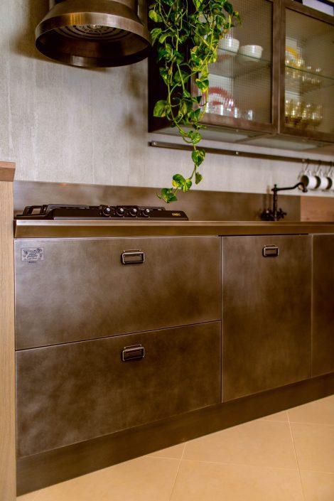 cucina stile industrial vintage