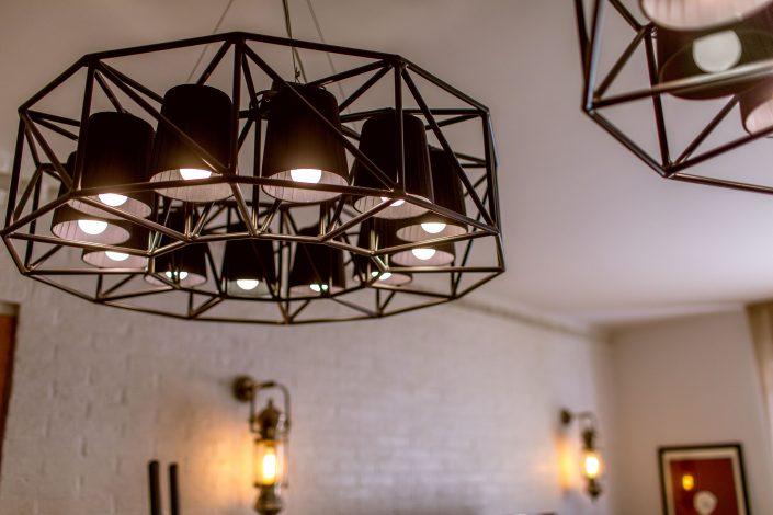 lampadari metallo nero industrial