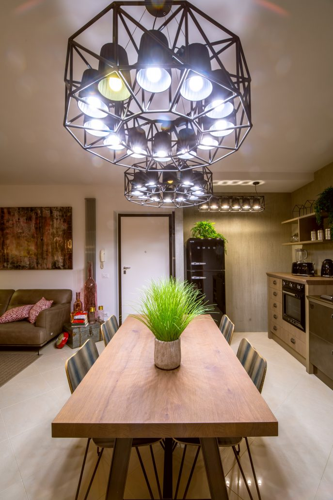 illuminazione industrial tavolo cucina