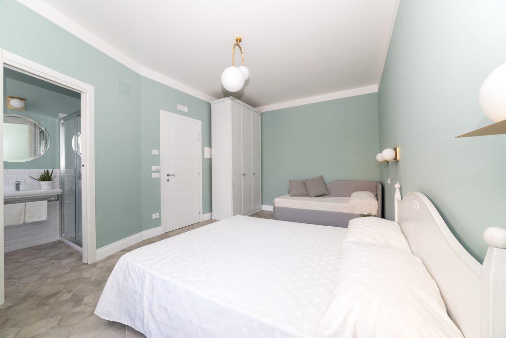 camera da letto pareti pastello