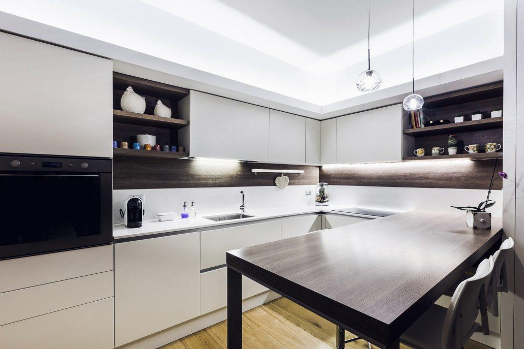 illuminazione controsoffitto cucina ad angolo
