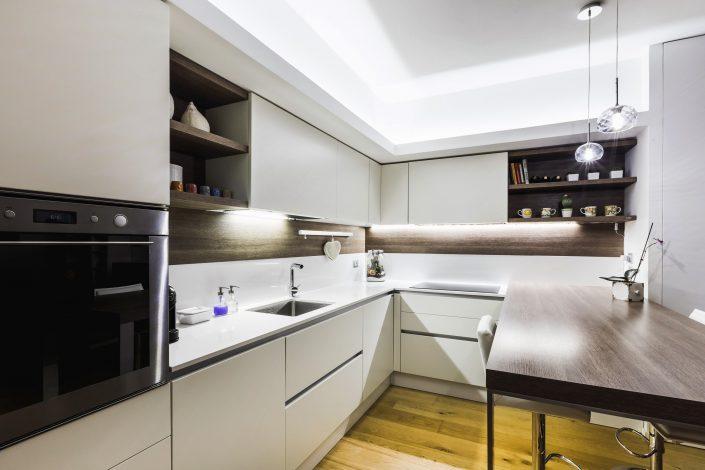 illuminazione cucina ad angolo