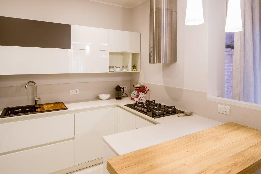 progetto piccola cucina ad angolo