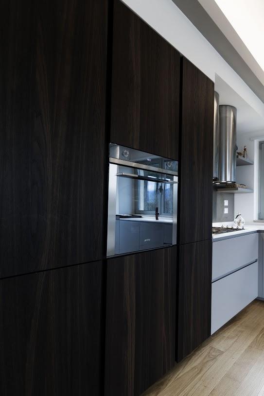 mobile cucina effetto legno scuro