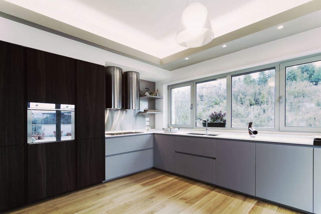 progetto illuminazione controsoffitto cucina