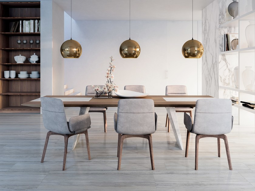 marmo velluto legno cucina