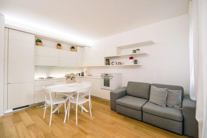 arredamento ambiente soggiorno cucina