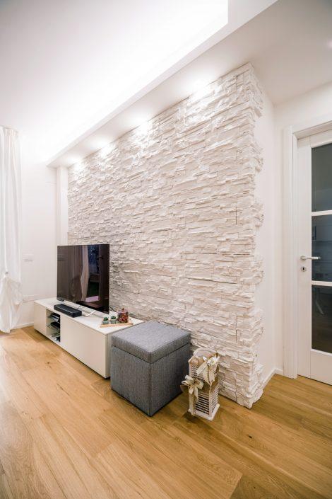 parete salotto rivestimento pietra