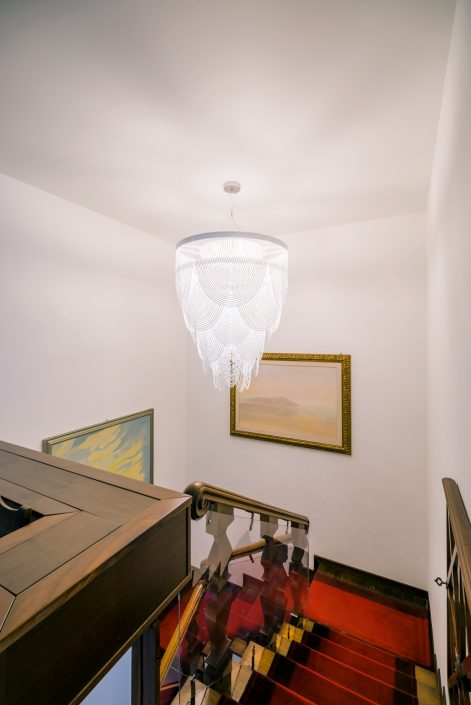 lampadario moderno ambiente classico