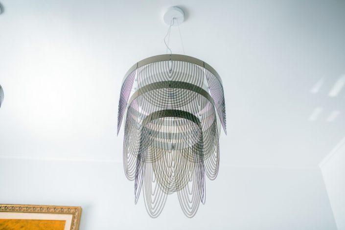 lampadario a sospensione elementi metallo