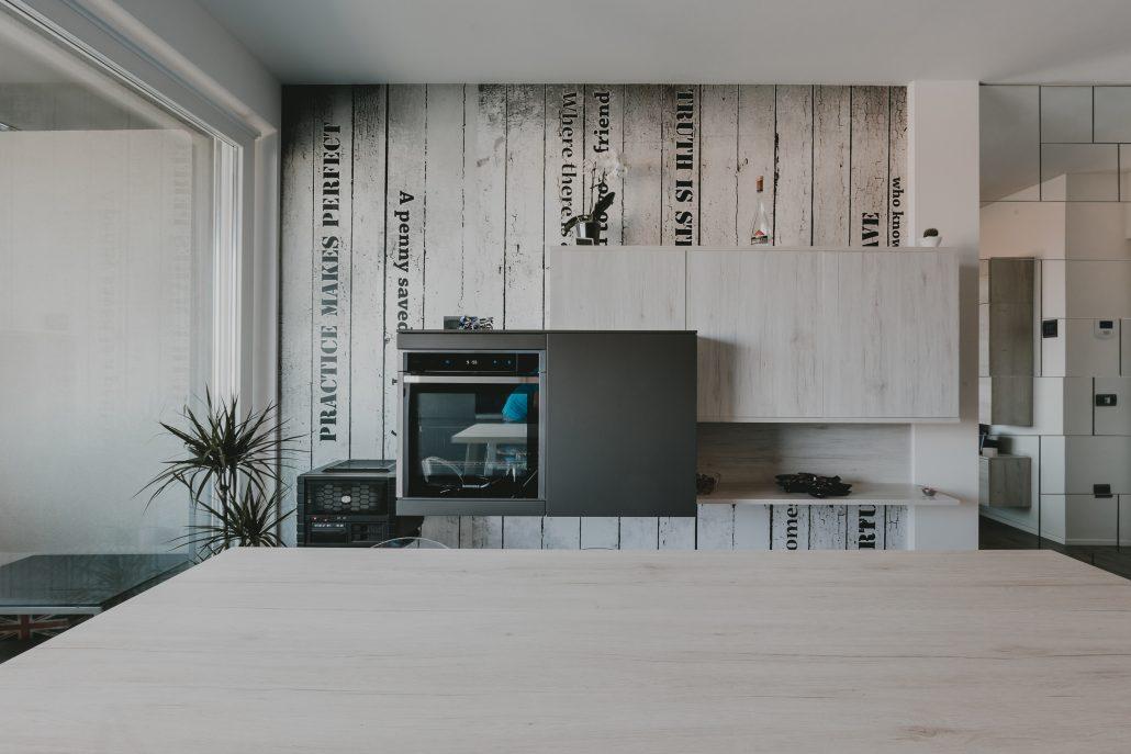 pensili parete cucina stile industriale