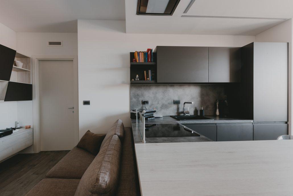 arredamento ambiente cucina soggiorno