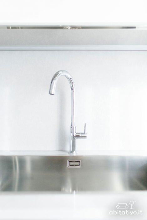 rubinetto ad arco con maniglia singola