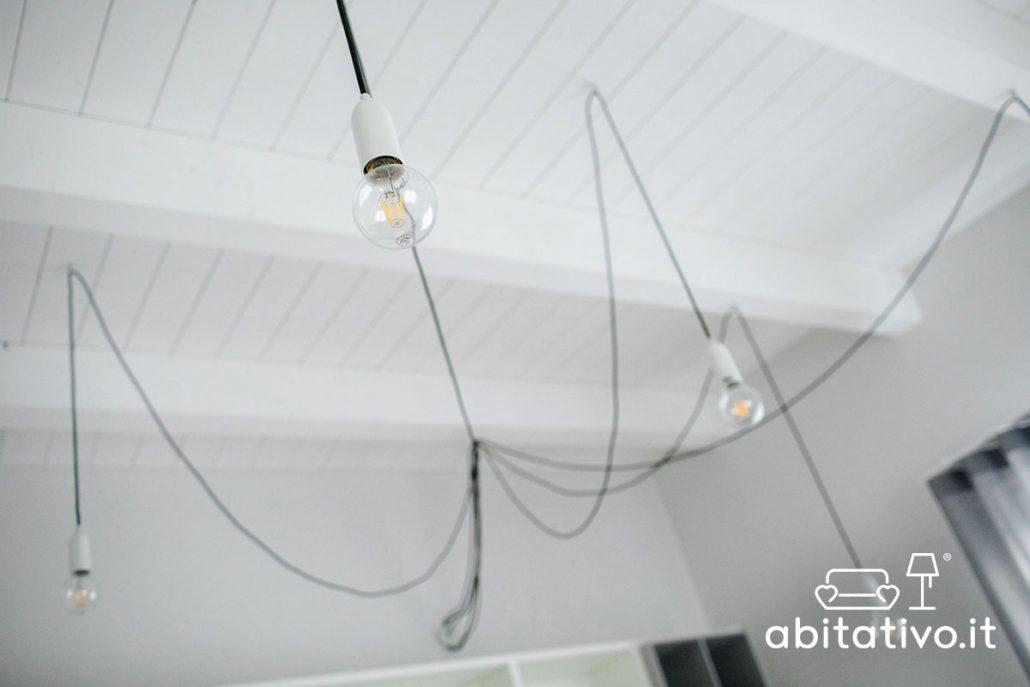 lampadari moderni con fili a vista