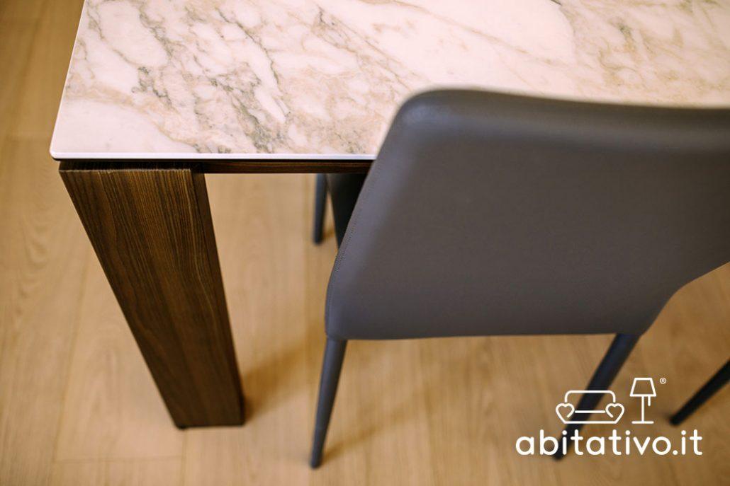 tavolo legno e marmo design