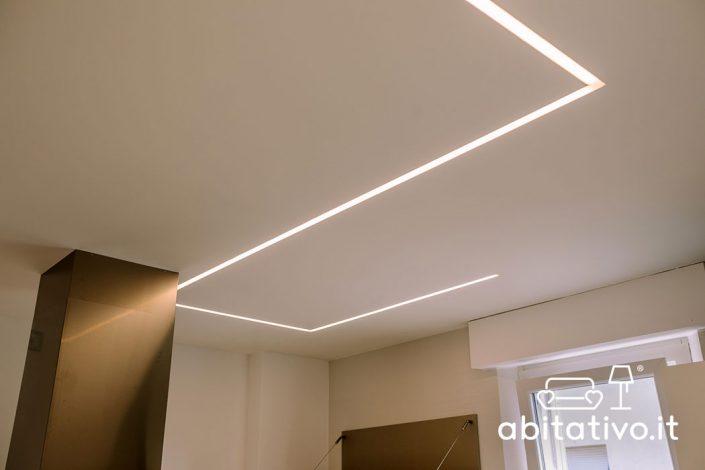illuminazione soffitto strisce led