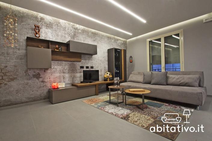 arredare soggiorno stile industriale