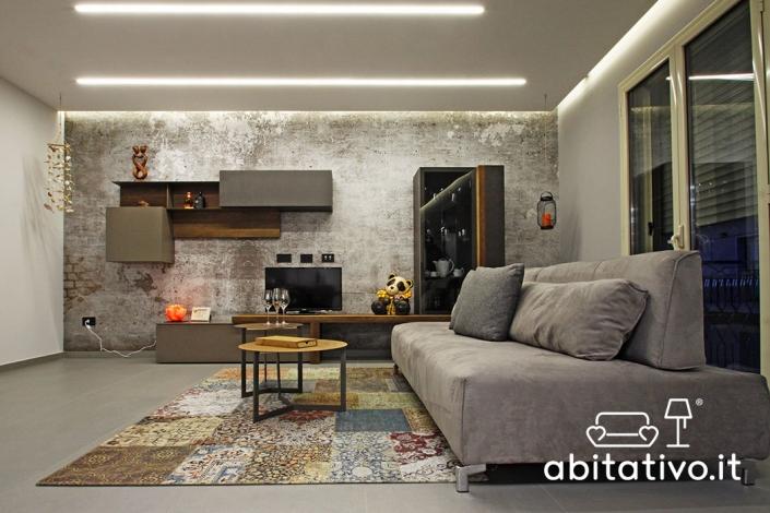 arredamento soggiorno industrial style