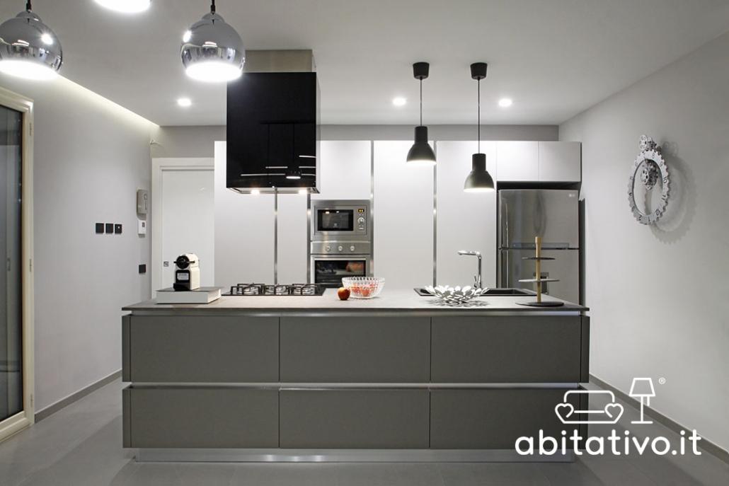 cucine moderne grigio e antracite