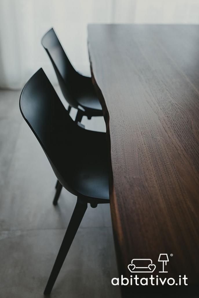 tavolo legno grezzo moderno