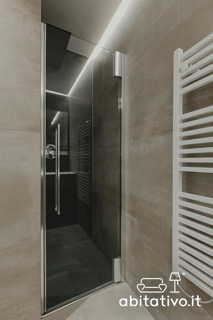 box doccia porta vetro scuro