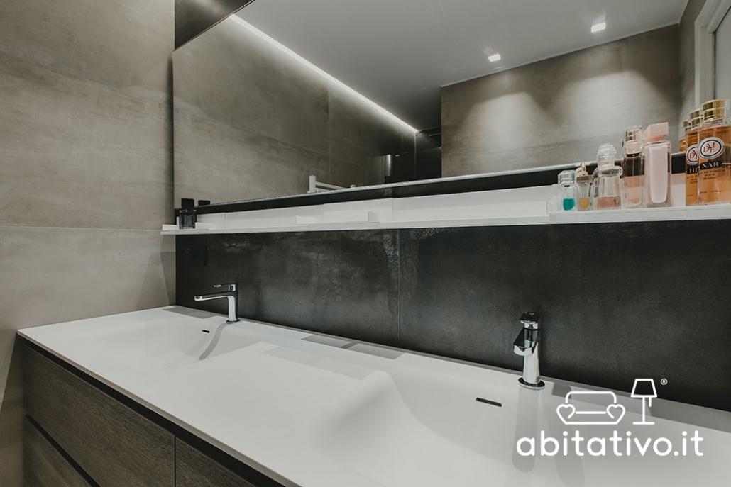 mobili bagno doppio lavabo moderni