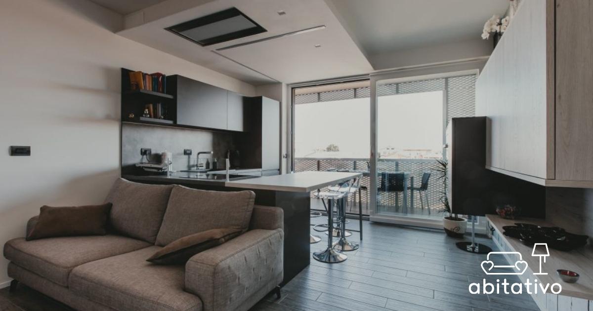 Cucina e sala insieme abitativo for Cucine e salotti insieme