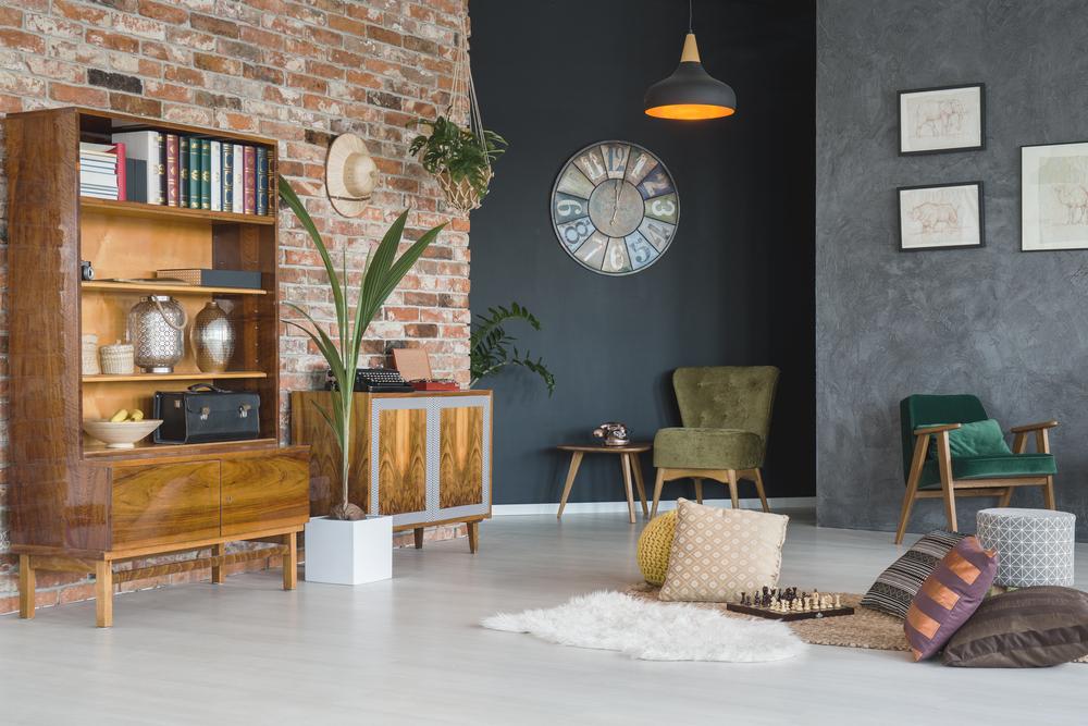 salotto stile modernariato