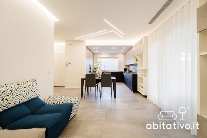 illuminazione soffitto cucina soggiorno