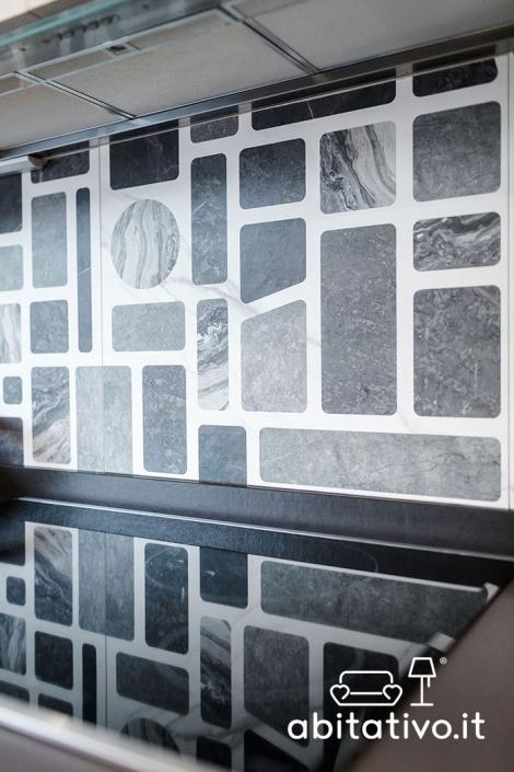 piastrelle cucina effetto marmo