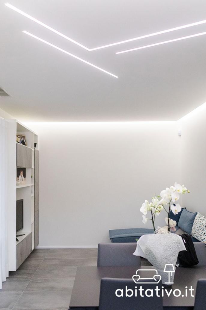 illuminazione strisce led soffitto