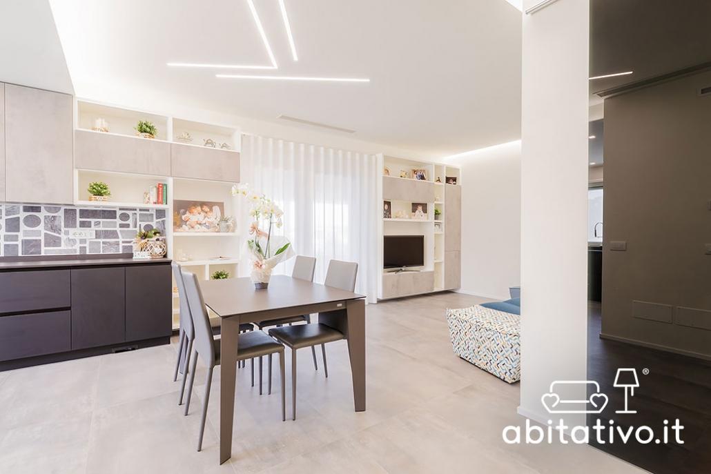 arredare cucina soggiorno ambiente unico