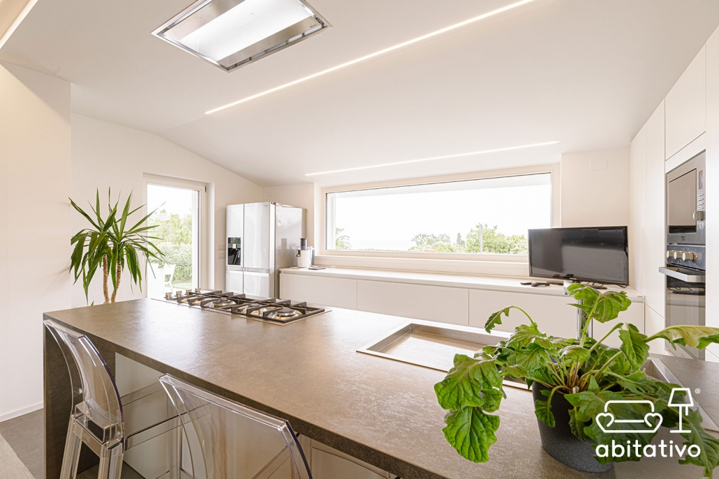 progetto cucina moderna con isola