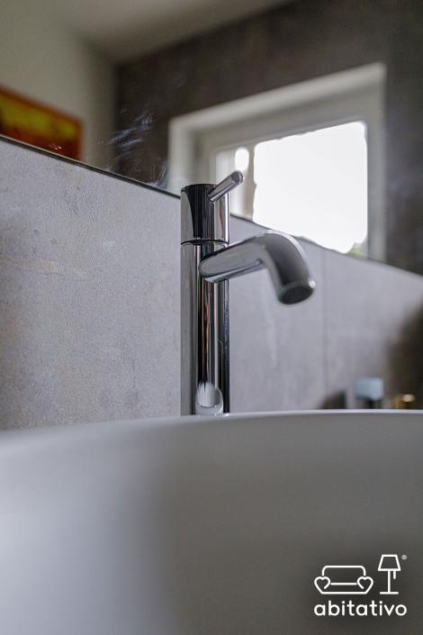 rubinetti bagno acciaio moderno
