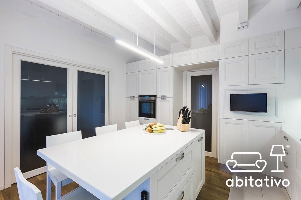 cucina bianca elegante