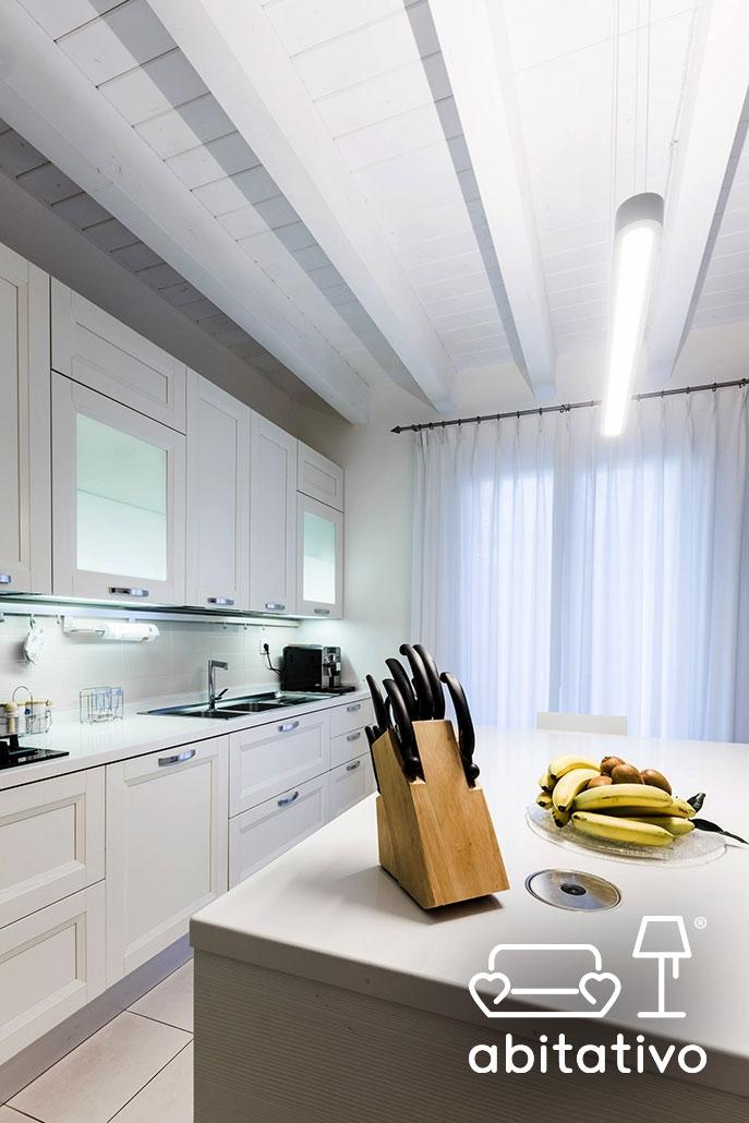 illuminazione cucina total white