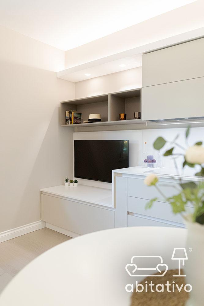 soluzione tv mobile cucina soggiorno