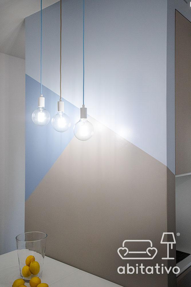 lampade a sospensione con filo colorato