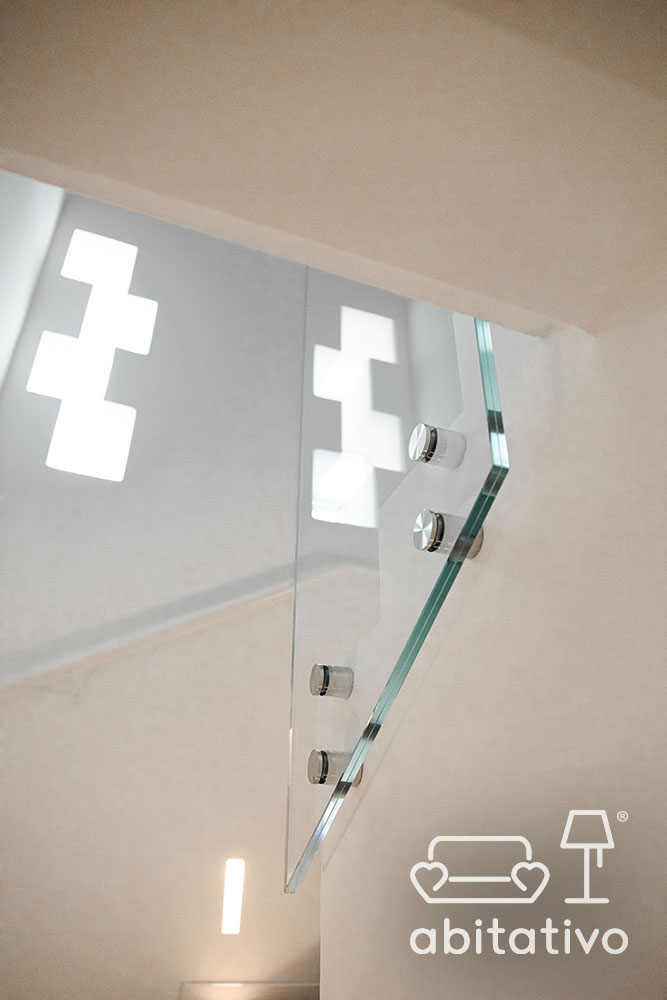ringhiera scala interna vetro
